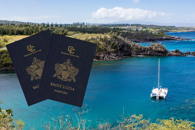 St Lucia passport by investment. Buy second passport